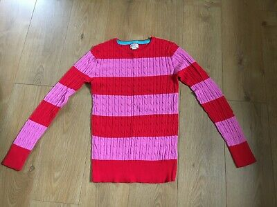 Boden Girls Pink and Red Striped Jumper age 15-16 years