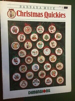 Dimensions cross stitch pattern booklet called Christmas Quickies