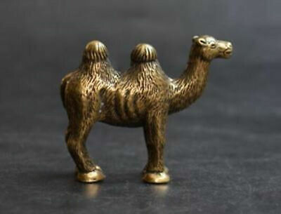 Chinese Hand Carved Copper Brass Bronze Animal Camel Small Statue Ornament