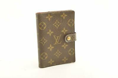 LOUIS VUITTON Monogram Agenda PM Day Planner Cover R20005 LV Auth oh059