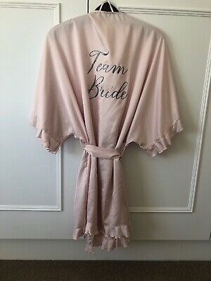 Team Bride Dressing Gown Size 10