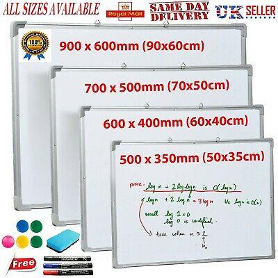 Large Small Magnetic Whiteboard Dry Wipe Eraser Drawing Board School Office