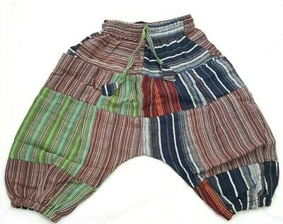 Fairtrade Childrens Kids Brown Harem Trousers Girls/Boys Hippie Festival Clothes