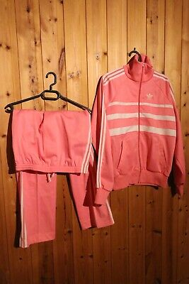 Vintage 70s ? Pink Adidas Made In France jacket And Pants SET M