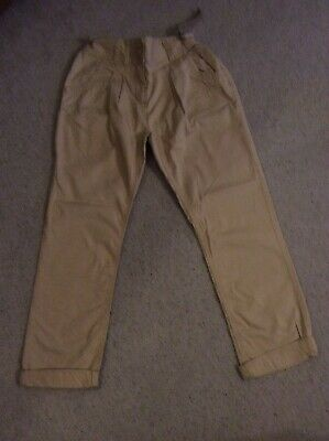 Girl's Beige Cotton Trousers - Age 11 Yrs - Next - Excellent Condition Worn Once