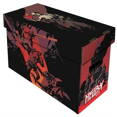 LOT OF 10 Boxes - BCW Short Comic Book Storage Box With Hellboy In Hell Artwork
