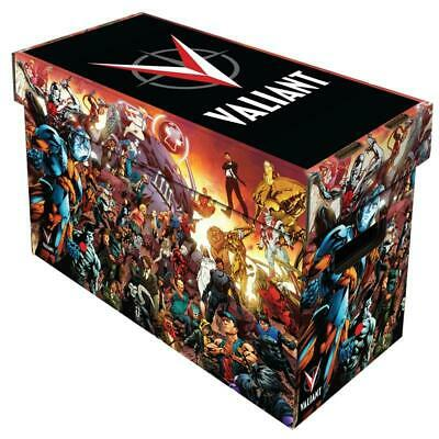 LOT OF 10 Boxes - BCW Short Comic Book Storage Box With Valiant Universe Artwork