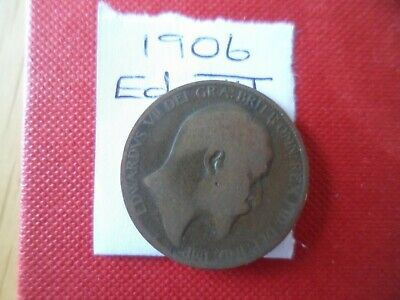 1906 Edward Vii Halfpenny Coin - Please See Photo's For Idea Of Condition