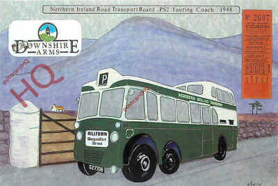 Picture Postcard-:NORTHERN IRELAND PS2 TOURING COACH