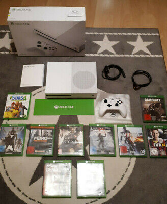 Xbox One S 1Tb Ovp + 10 Games + Controller + Hdmi - Top Zustand!!!