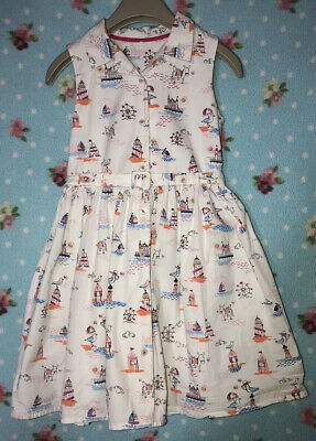 Girls Dress With Belt Seaside Print From MARKS &SPENCER AGE6-7 Years