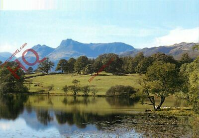 Postcard, English Lake District, Langdale Pikes Reflected In Loughrigg Tarn