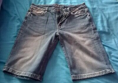 M&S Marks & Spencer Shorts 12 Indigo Collection Ladies Womens Girls Womans VGC