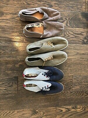 LOT of 3 pairs mens shoes TOMS GAP Ben Sherman size 13
