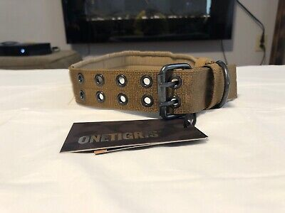 OneTigris Military Adjustable Large Dog Collar with Metal D Ring  Buckle