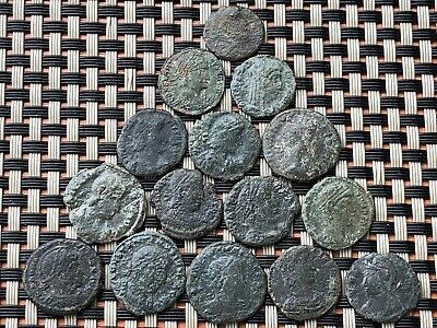 Lot Of 15 Ancient Roman Imperial Bronze Ae Follis Constantine The Great Dynasty