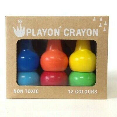 Playon Crayons - Primary Colours - Pack of 12 Crayons for Toddlers Gift Idea