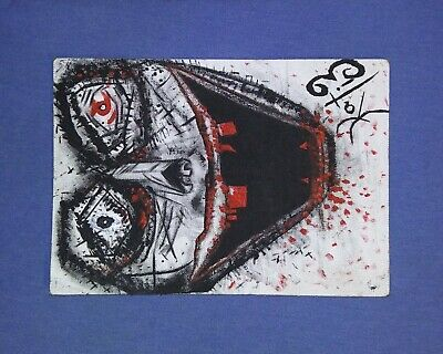 Abstract Acrylic-Psychotic Art Painting On Canvas, Original, Hand Painted/Sighed