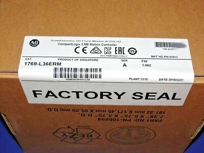 2018 FACTORY SEALED Allen Bradley 1769-L36ERM /A CompactLogix Processor