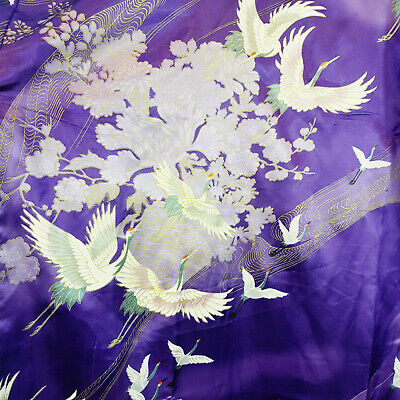 Made in Japan | Womens Japanese Crane Print Kimono Robe NEW [Size 42 or AU 12  ]
