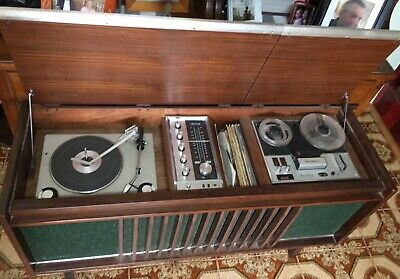 Vintage National Stereophonic Stereo  Record Player Radio