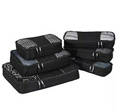 eBags Classic Packing Cubes - 6 Piece Variety Pack - BLACK