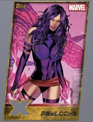 DIGITAL Topps MARVEL Collect Card Trader PSYLOCHE Rare X-MEN GOLD DIE-CUT Insert