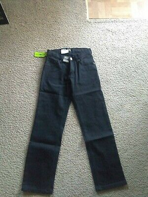 Boys Lee Straight Leg Jeans Boy Proof  Adjustable Waist 12 SLIM black NWT