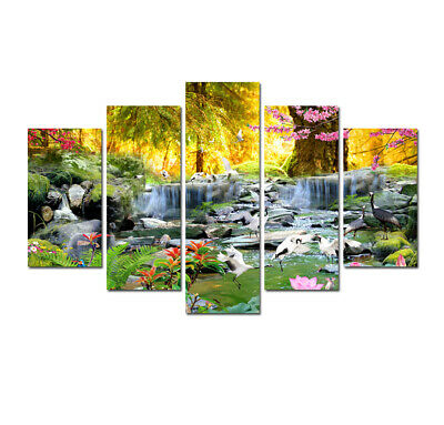 Waterfall Landscape Wall Art Canvas Print Painting Home Decor Picture Poster 5 p