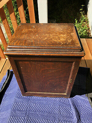 Antique Treadle SINGER Sewing Machine Model 66 in Wood Cabinet ALL ORIGINAL