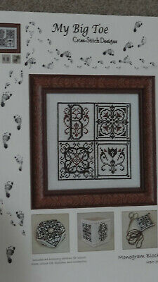 My Big Toe Cross Stitch Designs - Monogram Block NEW