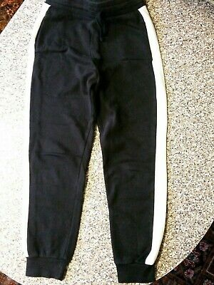 Girls Black And White Joggers Age 9-10 H&M.