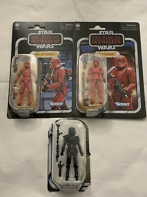 Star Wars Vintage Collection 3 Figure Lot The Rise of Skywalker Sith Trooper