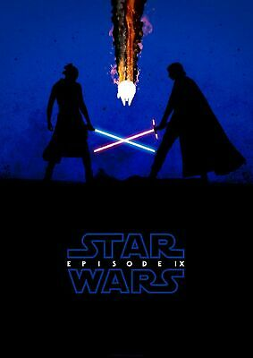 "Star Wars IX: Rise of the Skywalker Blue Movie Poster 13x20"" 24x36"" 27x40"""