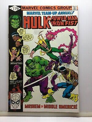 Marvel Team Up Annual #3 Hulk And Power Man And Iron Fist . 1980.