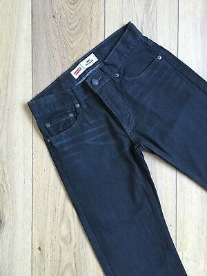 Kids Childrens Levis 505 Jeans Black Size 12 Regular - Red Label - AS NEW