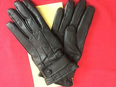 Saint Michael Vintage Men's Black Leather Gloves. 8.5 To 9. New In Box.
