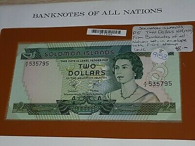 P5 $2 UNCIRCULATED Banknotes All Nations Solomon Islands  FDC