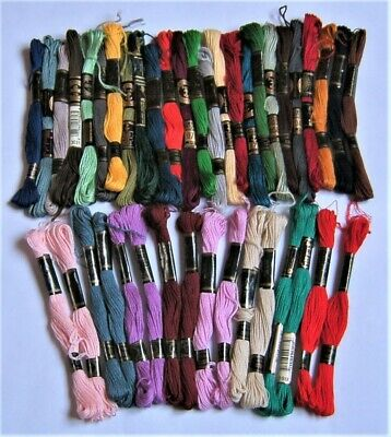 41 EMBROIDERY THREADS. ANCHOR, DMC and MOONBRAND. x2 and SINGLES.