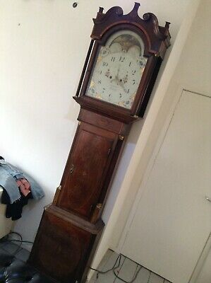 Antique Grandfather Longcase Clock by jn callcott cotton clearance find