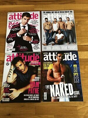 4 x Issues of Attitude Gay Interest/ Lifestyle Magazines 2015