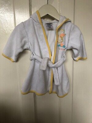 Child Of Mine Unisez Baby Dressing Gown With Hood  0-9 Months