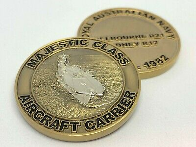 Royal Australia Navy Majestic Class 'Aircraft Carrier' Challenge Coin