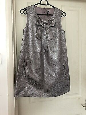 Girls Silver Next Dress Age 11 Years Party Christmas