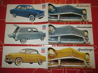 Prospectus  Simca  ,   Deluxe,  Commerciale,  Grand-Large