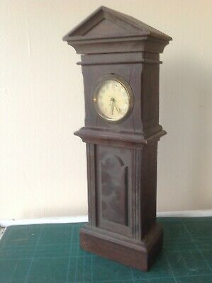 Vintage Diminutive Hardwood Grandfather Clock.