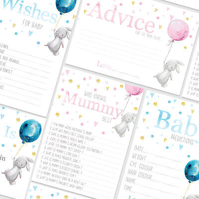 BABY SHOWER GAMES- Boy/Girl Pink/Blue Rabbit Predictions Who Knows Mummy Best