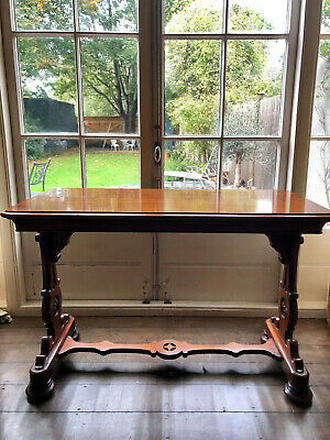 victorian mahogany consule table