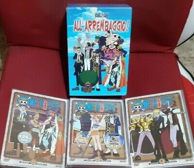 1 BOX + LOTTO DVD ANIME ONE PIECE 2,3,4 EDIZIONE INTEGRALE SHIN VISION nami,zoro