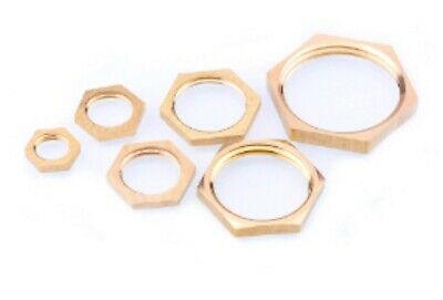 """LOT 20 Brass Hex Lock Nuts Pipe Fitting 1//4/"""" BSP Female Thread 3mm Thickness"""